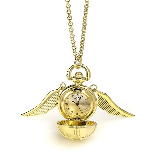 Golden Snitch Watch Necklace.