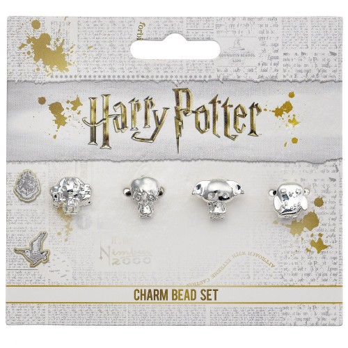 Chibi set of 4 spacer beads Luna/Hermione/Dobby/ Hedwig